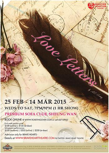 Review Love Letters Brave Heart Theatre